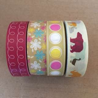 Washi Tape Set X 4 Tapes Brand New