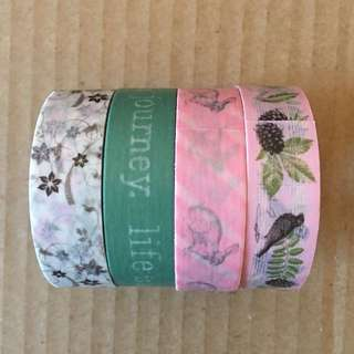 Washi Tape Bundle X 4 Washi Tapes Brand New