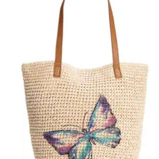 Style Co butterfly tote bag