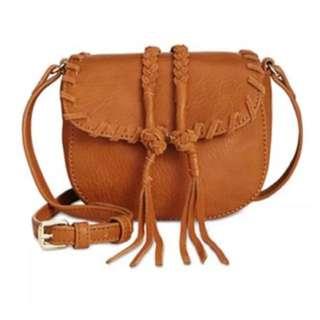 INC international sling leather bag