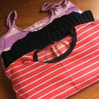1 Stripes Sleveless Deess, 1 Ribbed Black Dress, 1 Stripes Red Dress Bodycon