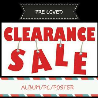 [updated] [Clearance sales] preloved album / poster / photocard