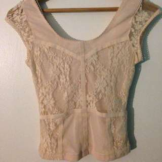 LACE LIGHT PINK TOP