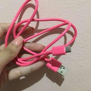 Kabel Hp Usb-phone Pink
