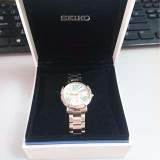 100%Seiko銀色女裝手錶