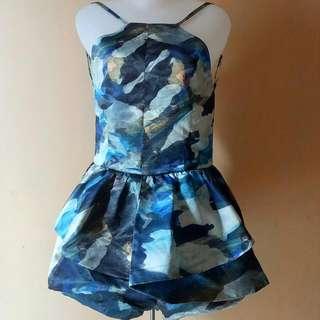 Mini Jumpsuit Rok Celana