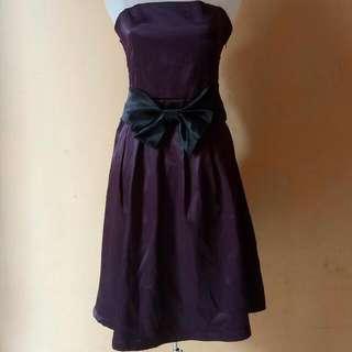 Midi Party Dress Dark Purple SecondHand