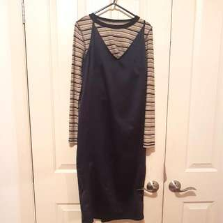 Topshop Navy Slip Dress size 10