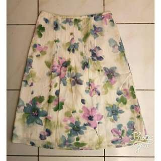 Ecoprint Skirt Midi #clearancesale
