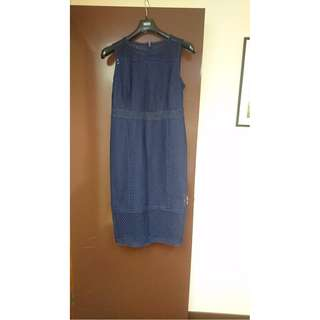 Size 14 藍色背心長裙