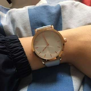 Pale Blue And Rose Gold Watch