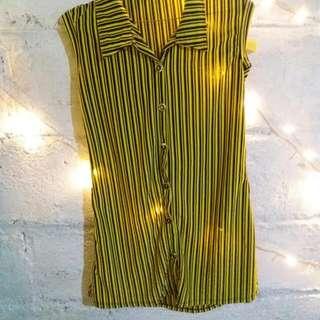 Blouse Stripe Yellow