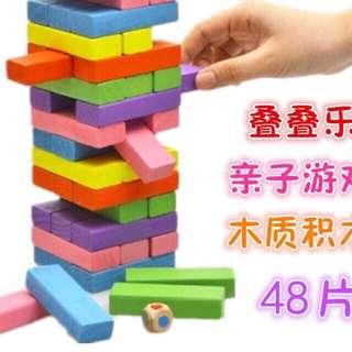 48pcs Jenga Wood Blocks