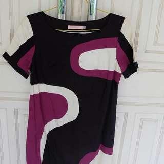 Purple X Black Dress