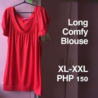 Plus Size Long Comfy Blouse