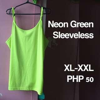 Plus Size Neon Green Sleeveless