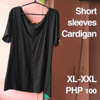 Plus Size Short Sleeves Cardigan