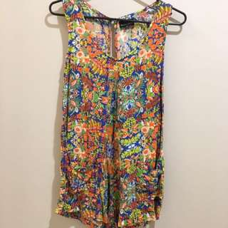 Bamboo Blonde Jungle Playsuit