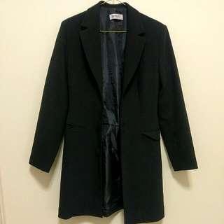 Long Black Coat // Blazer // Size 6-8