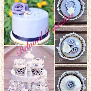 Wedding Cakes Cupcakes 結婚婚禮蛋糕 紙杯蛋糕