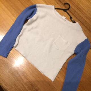White And Blue Knit