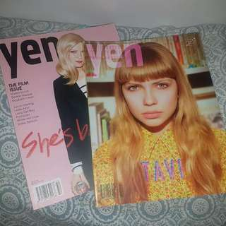 2 Beautiful YEN magazines