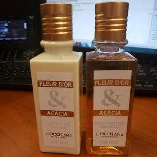 Take all L'occitane Acacia Body Milk & Shower Gel