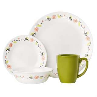 Corelle Tangerine Garden 16 Piece Dinnerware Set   FREE SHIPPING NATIONWIDE!!