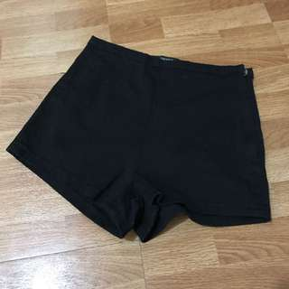 Forever 21 Black High Waisted Cheeky Shorts