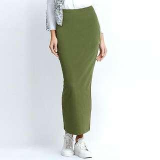 Khaki Green Slim Skirt Size 16