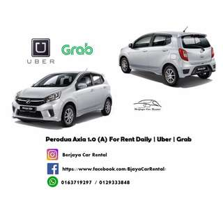 Perodua Axia 1.0 (A) For Rent Daily | Uber | Grab