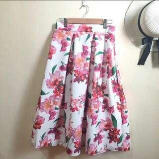 Brand New Floral Midi Skirt