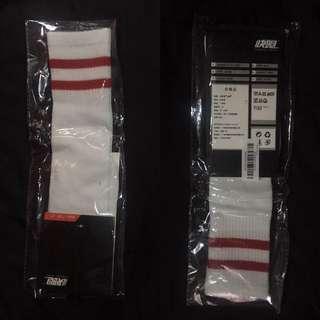 Red Stripes Athletic Socks
