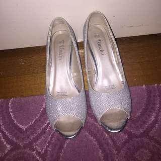 Silver Heels Size 6