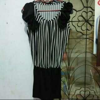 Dress Cross Hiram Putih  (No Brand)