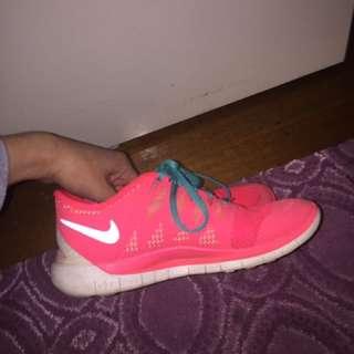 Pink And Blue Nike Free Runs