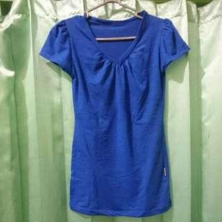 Blue Tee V-neck
