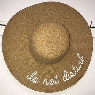 Straw Sunhat (do not disturb)