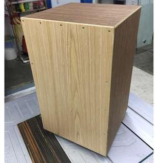 Custom Cajon, Oak Tapa, Wenge Body