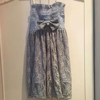 Maong with Gray Lace Dress