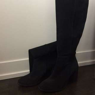 Zara Knee High Suede Boots