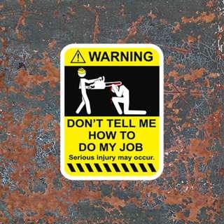 Waterproof Warning Sign Sticker Decal