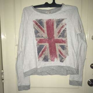 Zara Union Jack Sweater