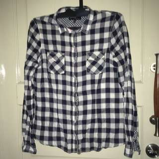 Bershka Checkered Blouse