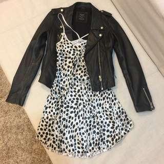 日本購入 豹紋緞面細肩帶洋裝