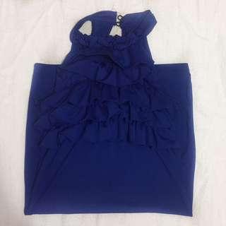 Midnight Blue Bodycon Dress On Sale!