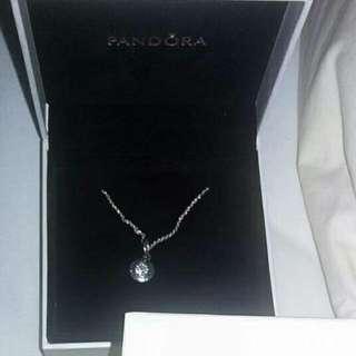 Pandora Necklace With Pandora Pendant