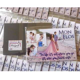 Personalized Ref Magnet Wedding Souvenirs (Quality Giveaways)