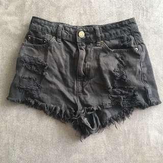 BDG Black Denim Shorts Size Small