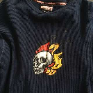Skull Long sleeve Top Size Small